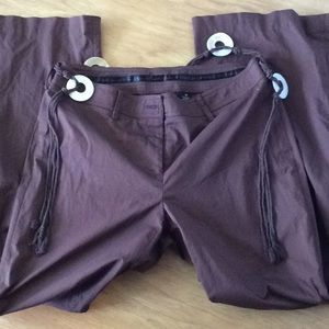 Apostrophe chocolate brown stretch pants
